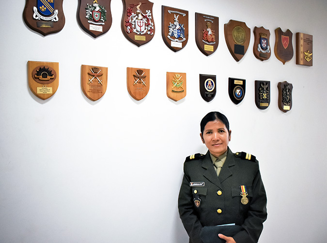Marquita da Cunha is an army lieutenant with the Falintil–Defence Forces of Timor-Leste. Photo: UN Women/Felix Maia