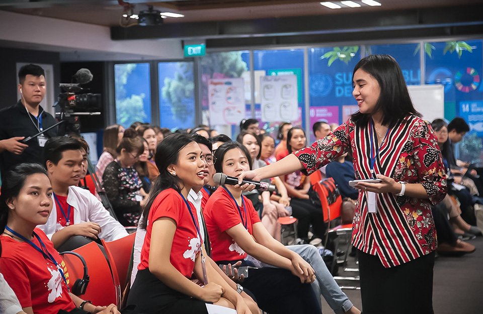 More than 120 youth from 10 ASEAN countries discussed about challenges and solutions to achieve gender equality. Photo: UN Women/Pham Phuong Anh
