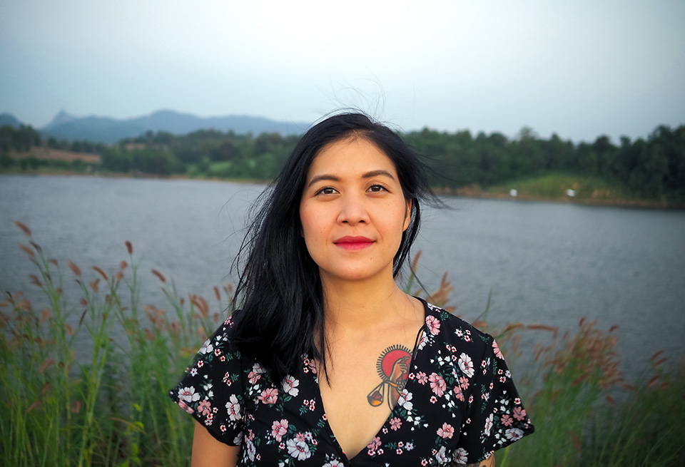 Busayapa Srisompong, a survivor who turns to a lawyer specializing in gender-based violence. Photo: Courtesy of Maximillian Morch