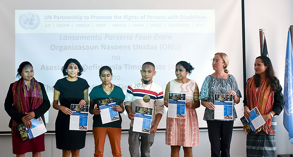 UN Agencies partner with organizations of persons with disabilities to promote more inclusive services and the rights of persons with disabilities