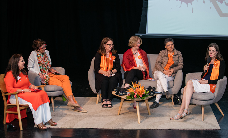 Female ambassadors and leaders shared their experience of becoming female leaders. Photo: UN Women/Nguyen Minh Duc