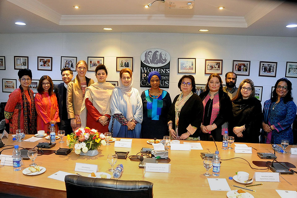 Members of the Women Parliamentary Caucus with UN Women Executive Director Phumzile Mlambo-Ngcuka. Photo: Courtesy of The Women's Parliamentary Caucus