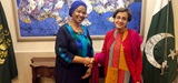 UN Women Executive Director Phumzile Mlambo-Ngcuka with Secretary of Foreign Affairs Tehmina Janjua. Photo: UN Women/Montira Narkvichien