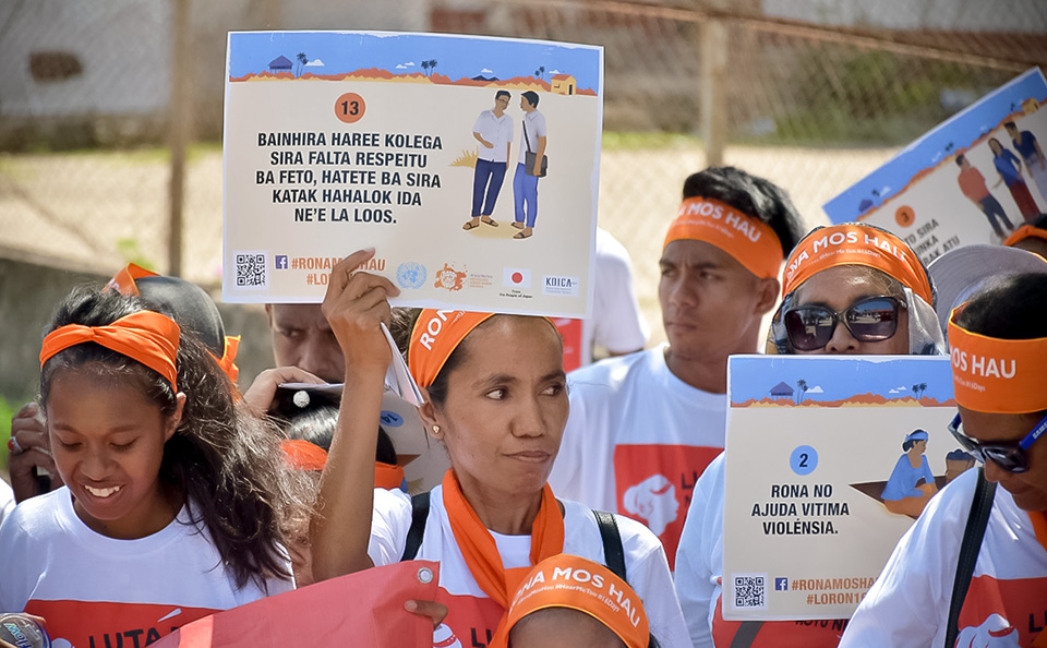 Survivors raise their voices at a Walk to Remember in Timor-Leste