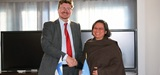 (from left) H.E Mr. Pertti Anttinen, Ambassador of Finland to Nepal, and Wenny Kusuma, UN Women Nepal Country Representative. Photo: UN Women