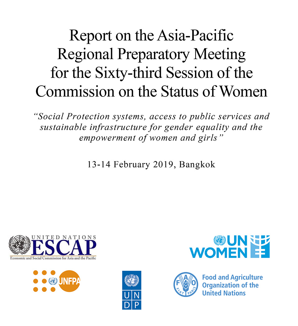 Report on the Asia-Pacific Regional Preparatory Meeting for the Sixty-third Session of the Commission on the Status of Women