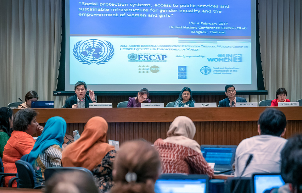 Regional stakeholders say a holistic and gender-responsive approach to social protection is needed