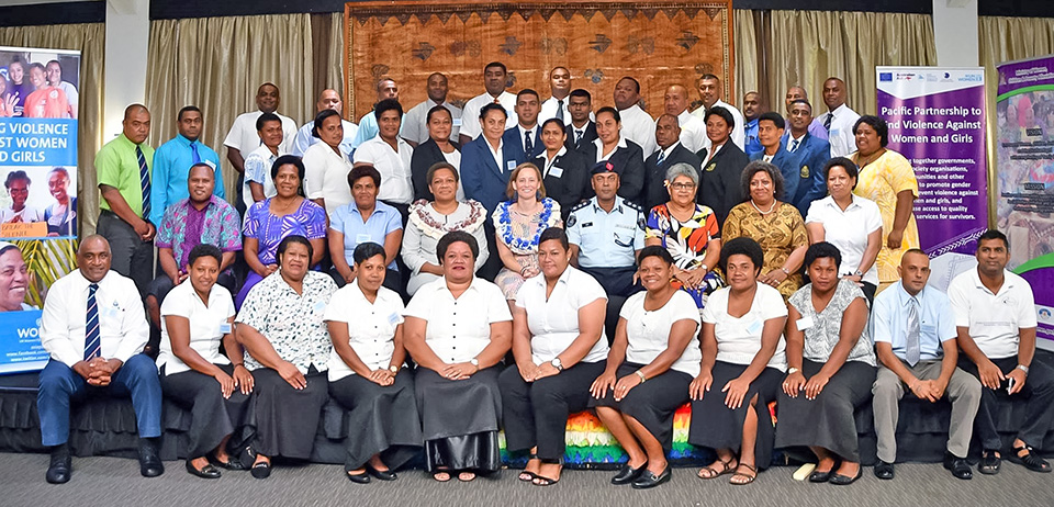 Group photo. Photo: Courtesy of Department of Information, Fiji