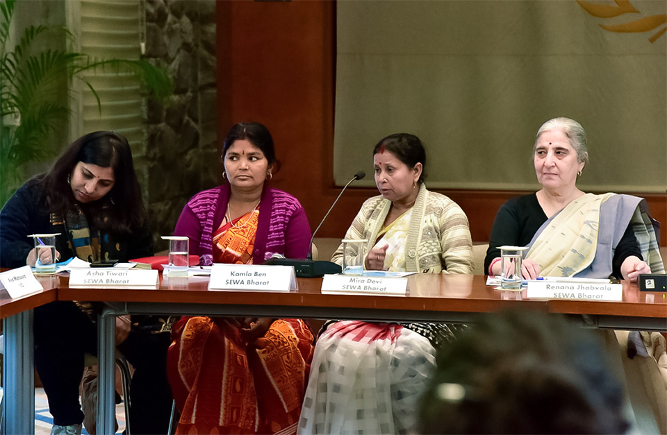 Civil society activists and informal sector workers took part in the civil society consultation on 21 February 2019. Photo: UN Women/Sarabjeet Dhillon
