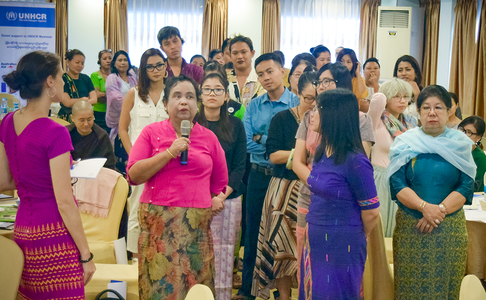 Attendees shared stories of their own experiences of gender and citizenship issues in Myanmar. Photo: UNHCR