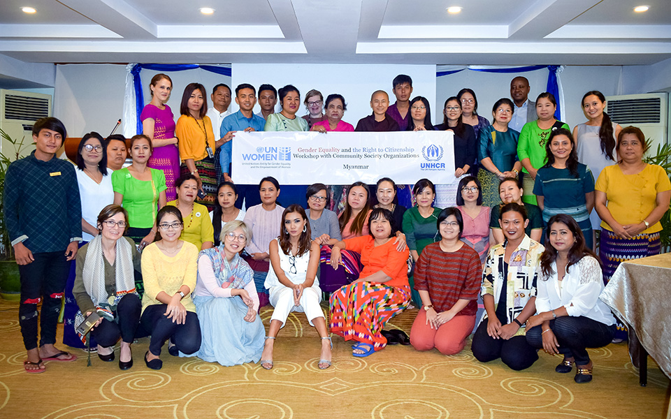 Participants came from all over the country to discuss the right to a nationality in Myanmar. Photo: UNHCR