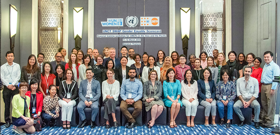 UN Officials in Asia-Pacific trained on UNCT-SWAP Gender Equality Scorecard