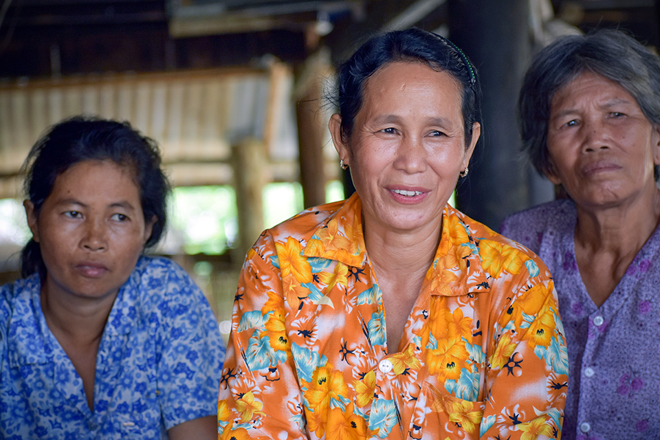 Women in Takeo province aired their concerns and priorities about the effects of climate change and water scarcity in their lives at the community consultations. Photo: UN Environment and UN Women/Prashanthi Subramaniam