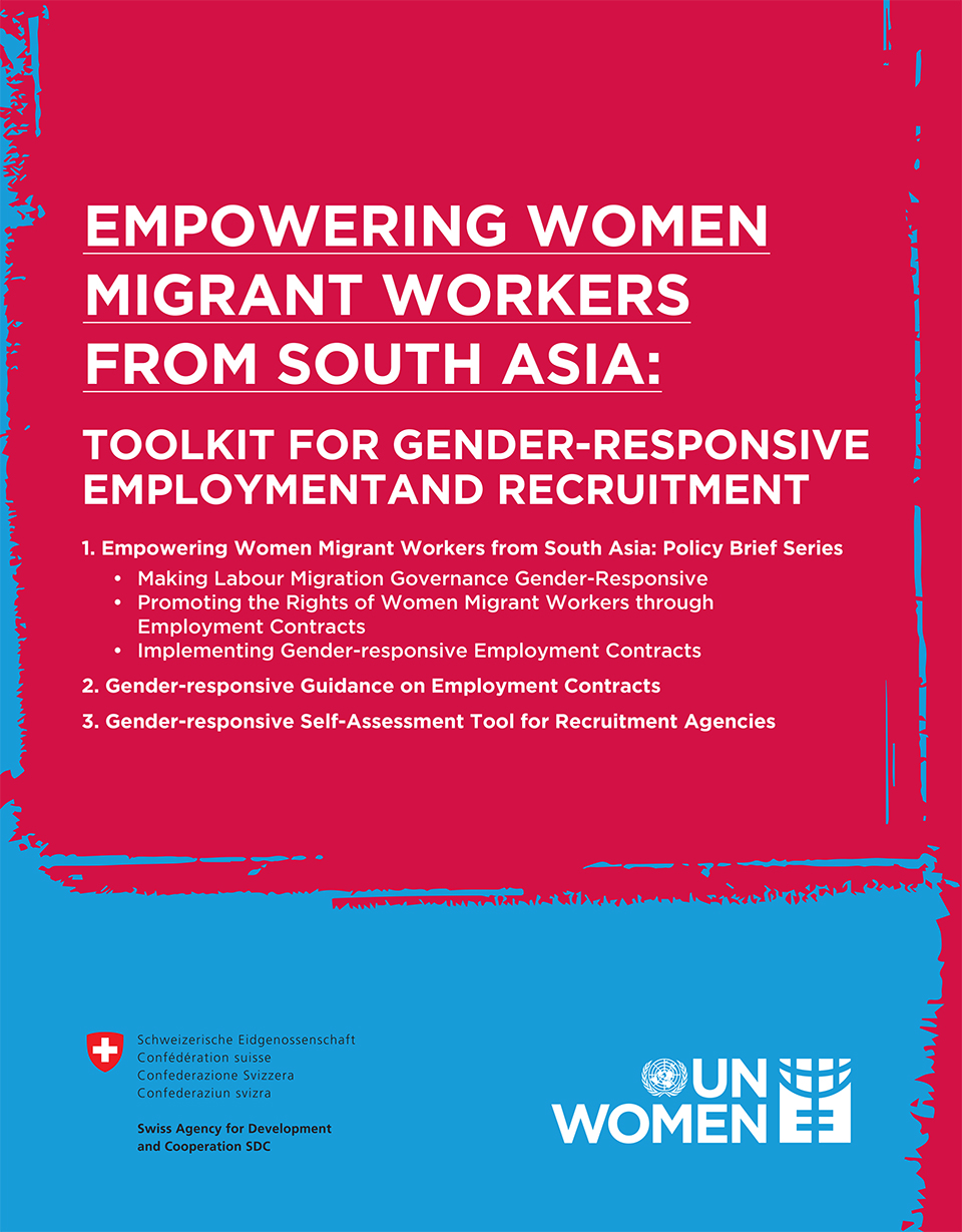 Empowering Women Migrant Workers from South Asia: Toolkit for Gender-Responsive Employment and Recruitment