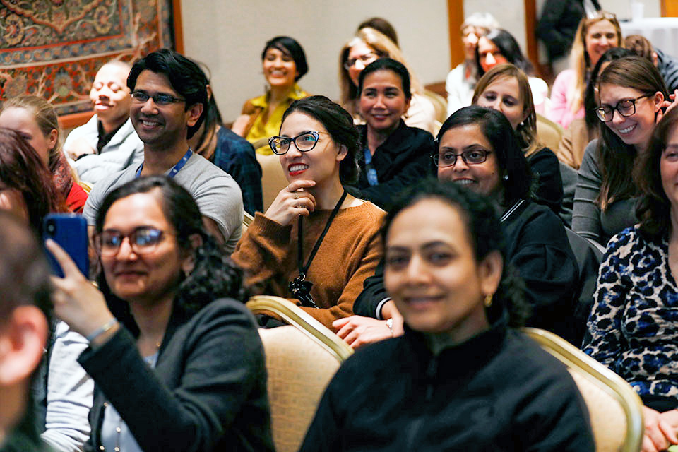 "Audience members at the ""Comedy for Equality"" event in New York City on 25 March. Photo: UN Women/Ryan Brown"