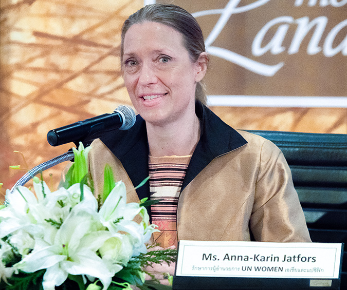 Anna-Karin Jatfors, acting Regional Director of UN Women Asia and the Pacific. Photo: UN Women/Buris Nawong