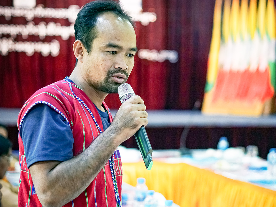 Ku Thae Re, Member of parliament from Pruhso Township Village, Kayah State. Photo: UN Women/Salai Hsan Myat Htoo