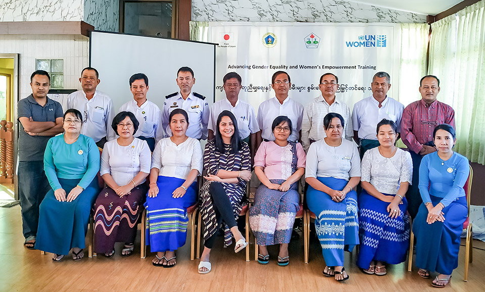 The Mrauk U Women's Committee was from one of four townships that participated in the trainings. Photo: UN Women/Shaivalini Parmar