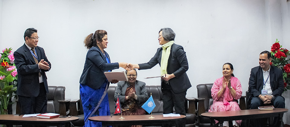 Memorandum of Understanding signed by UN Women Nepal and Ministry of Women, Children and Senior Citizens