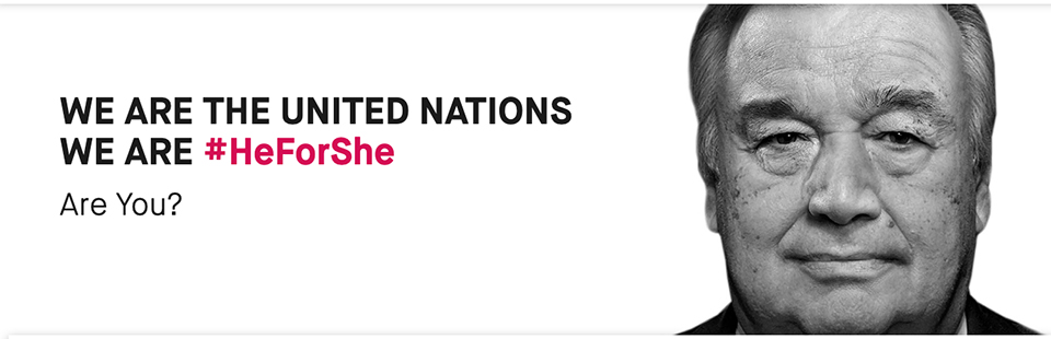 We are the United Nations, We are HeForShe. Are You?