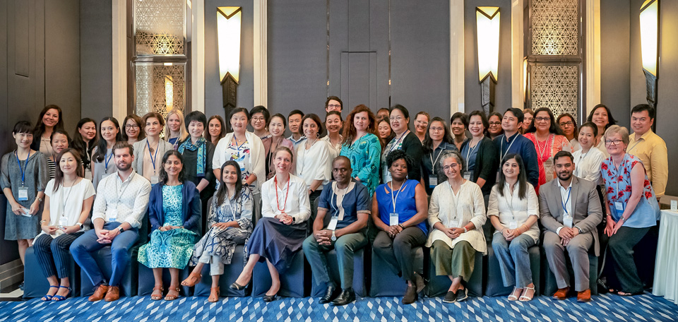 Group photo of 36 participants from 13 countries represented country offices. Photo: UN Women/Pairach Homtong