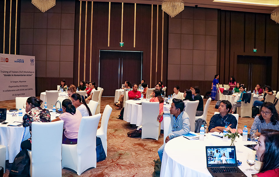 Participants listen to the session on sex-, age- and disability-disaggregated data. Photo: UN Women/Cecilia Truffer