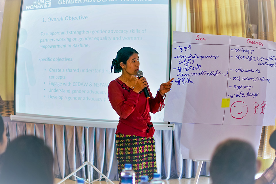 With UN Women's help, Myanmar's women activists learn new skills for advocacy