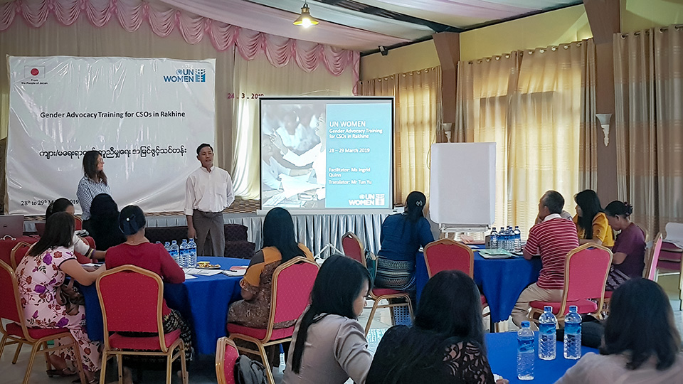 The training starts with discussion of key gender concepts and international commitments. Photo: UN Women/Sumiran Shrestha