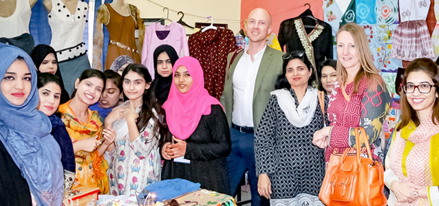 Norwegian delegation visits home based workers in Pakistan