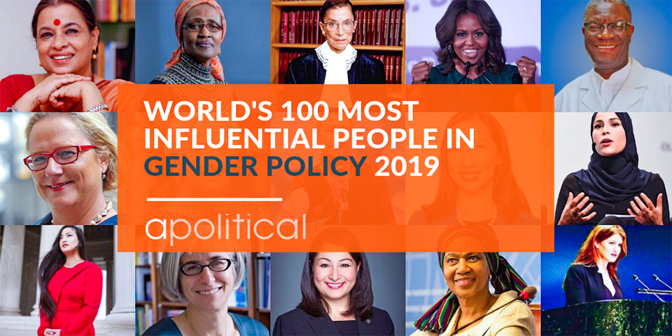 Apolitical's 100 Most Influential People in Gender Policy 2019 features UN Women experts