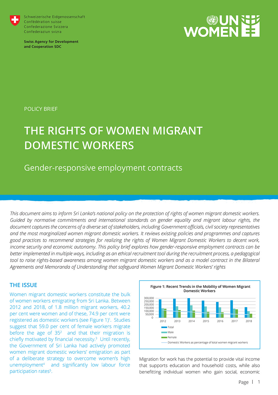 POLICY BRIEF: The rights of women migrant domestic workers | Gender-responsive employment contracts