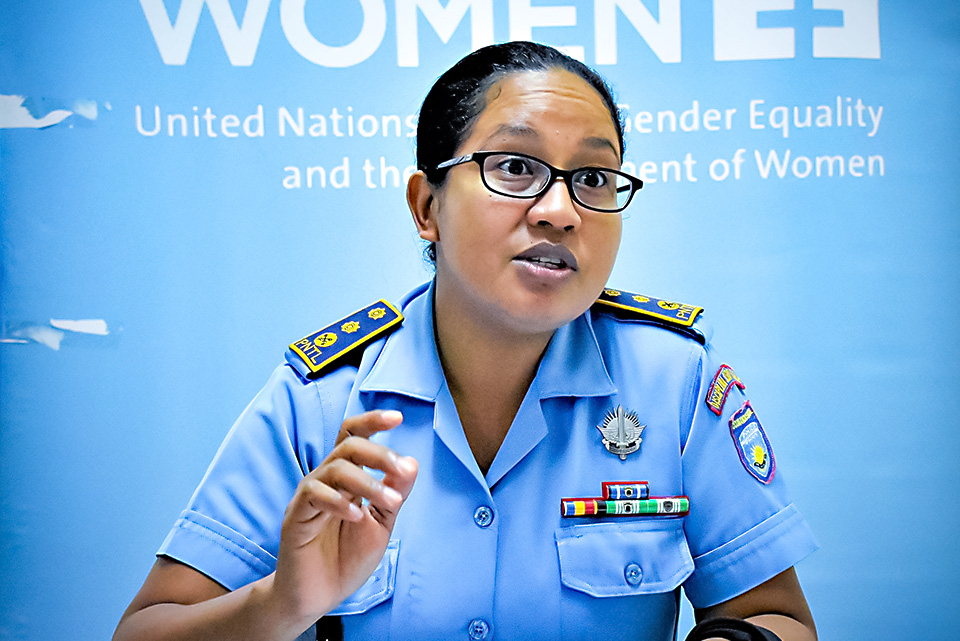 Superintendent Natercia E. S. Martins. The only Timor-Leste's Police Municipal commander in the country. Photo: UN Women/Helio Miguel