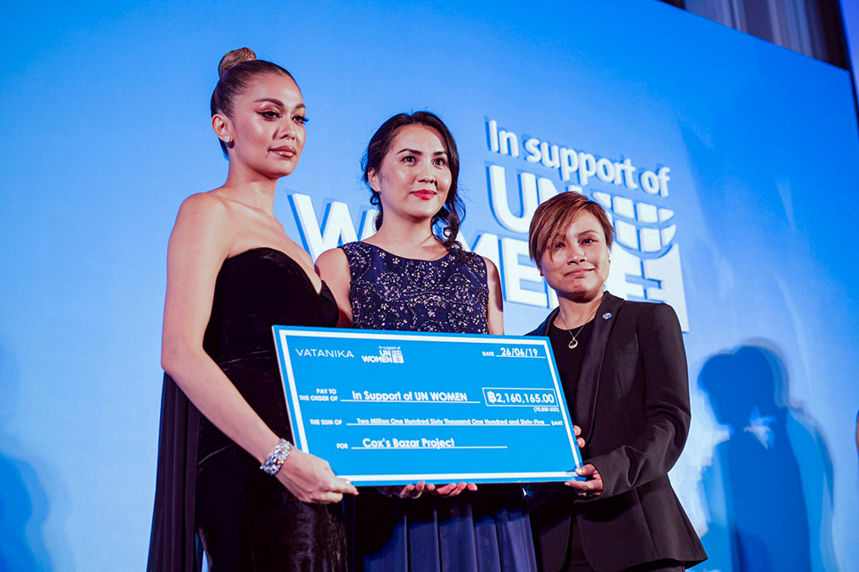 Vatanika raised 70,000 USD on her dedicated page and handed over the raised amount to UN Women. Photo: Courtesy of Vatanika