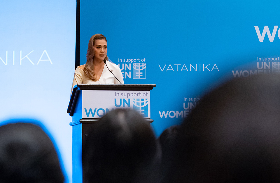 As director of Vatanika Group, Vatanika becomes the first woman in senior management in Thailand to formally commit to Women's Empowerment Principles for businesses. Photo: UN Women/Pairach Homtong