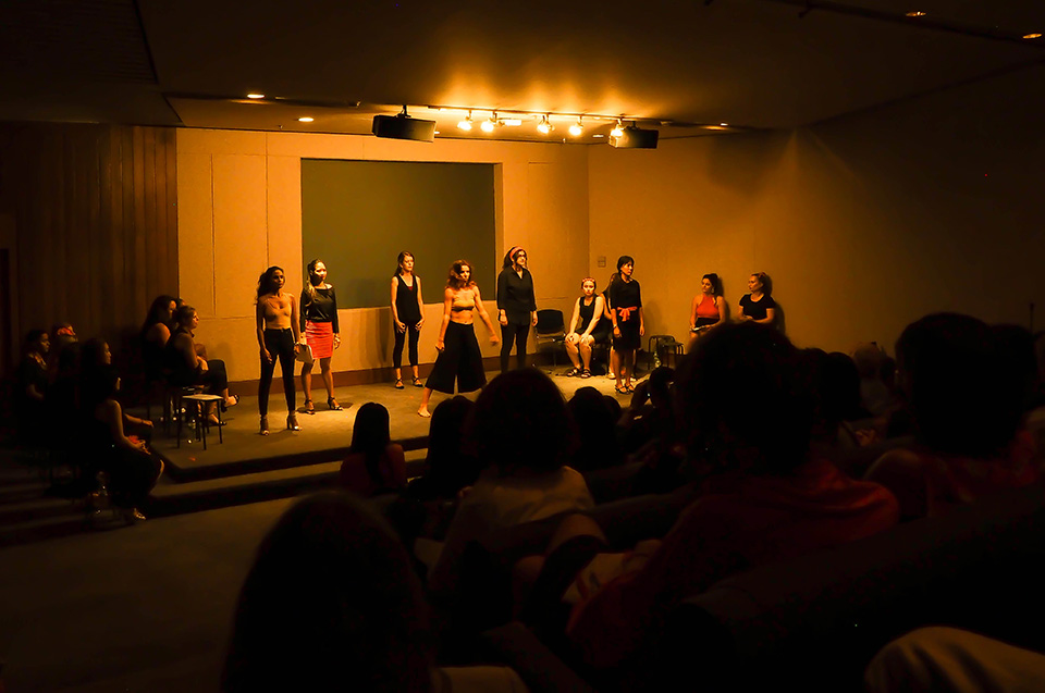 The Vagina Monologues performance at UNCC, Theatre Room. 25 June 2019. Photo: Courtesy of Jessica Amity
