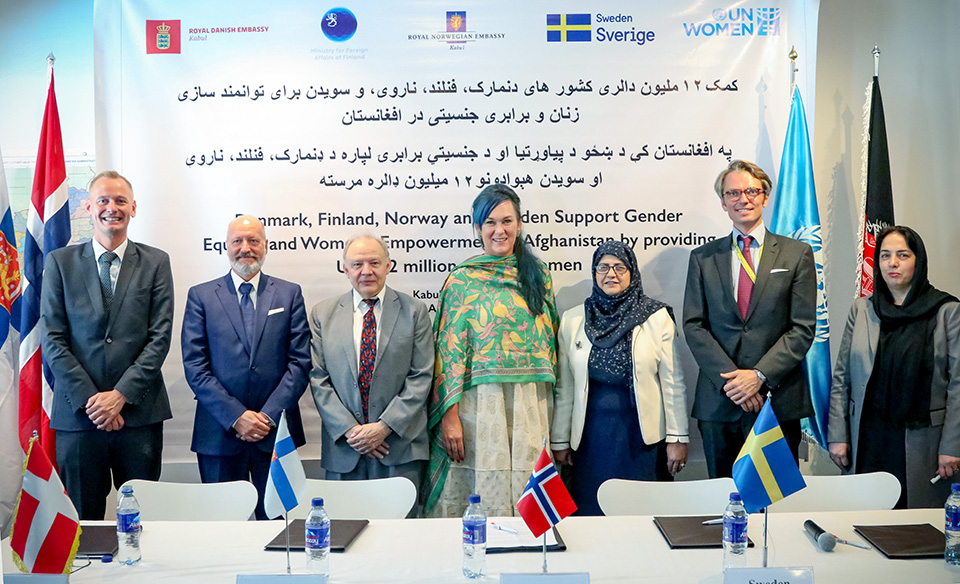 Denmark, Finland, Sweden and Norway Support Gender Equality and Women's Empowerment in Afghanistan by providing USD12 million to UN Women