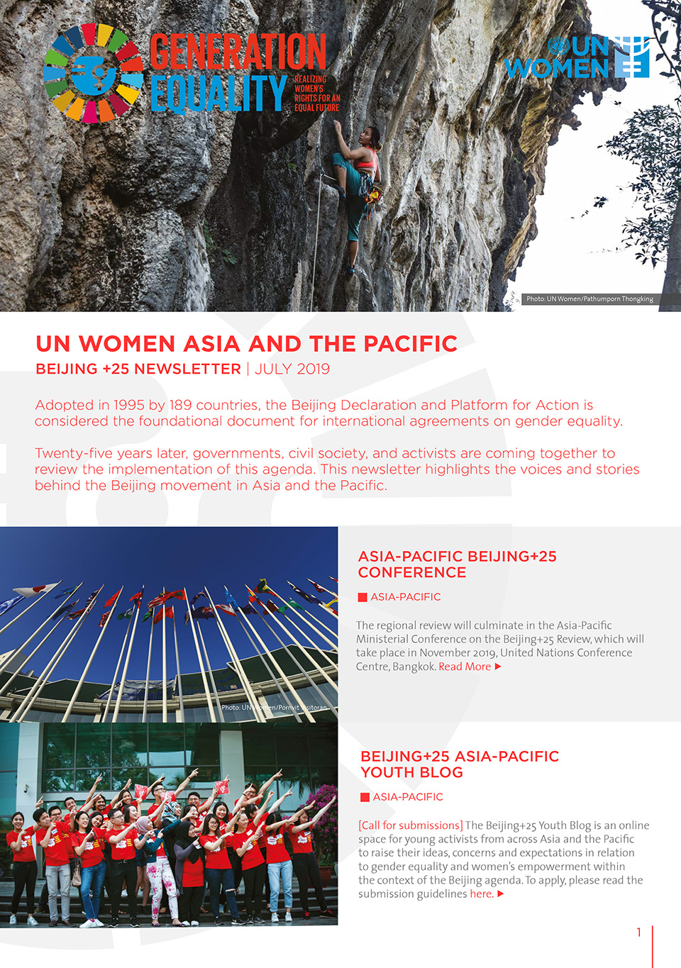 UN Women Asia and the Pacific | Beijing+25 Newsletter