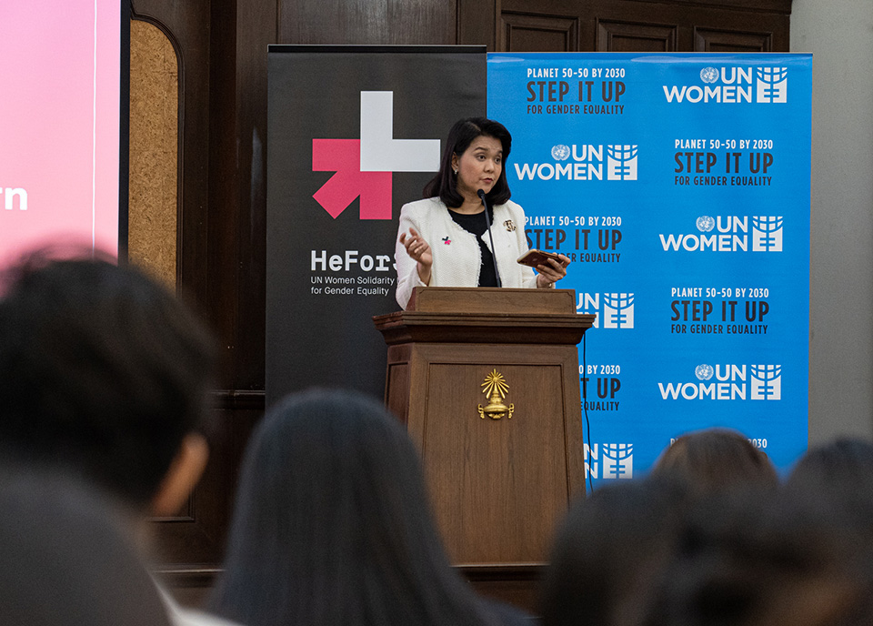 HeForShe University Tour event on 9 September at Chulalongkorn University  Photo: UN Women/Pathumporn Thongking