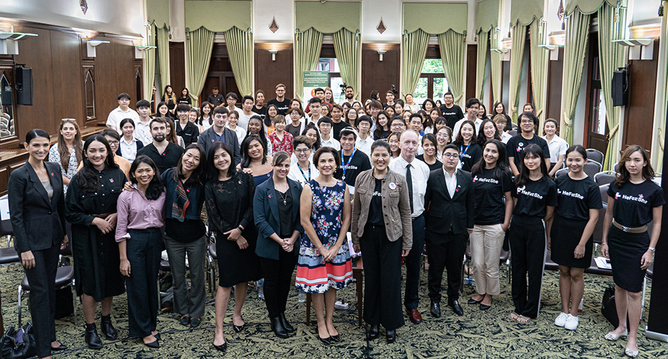HeForShe University Tour event on 9 September at Chulalongkorn University. Photo: UN Women/Pathumporn Thongking