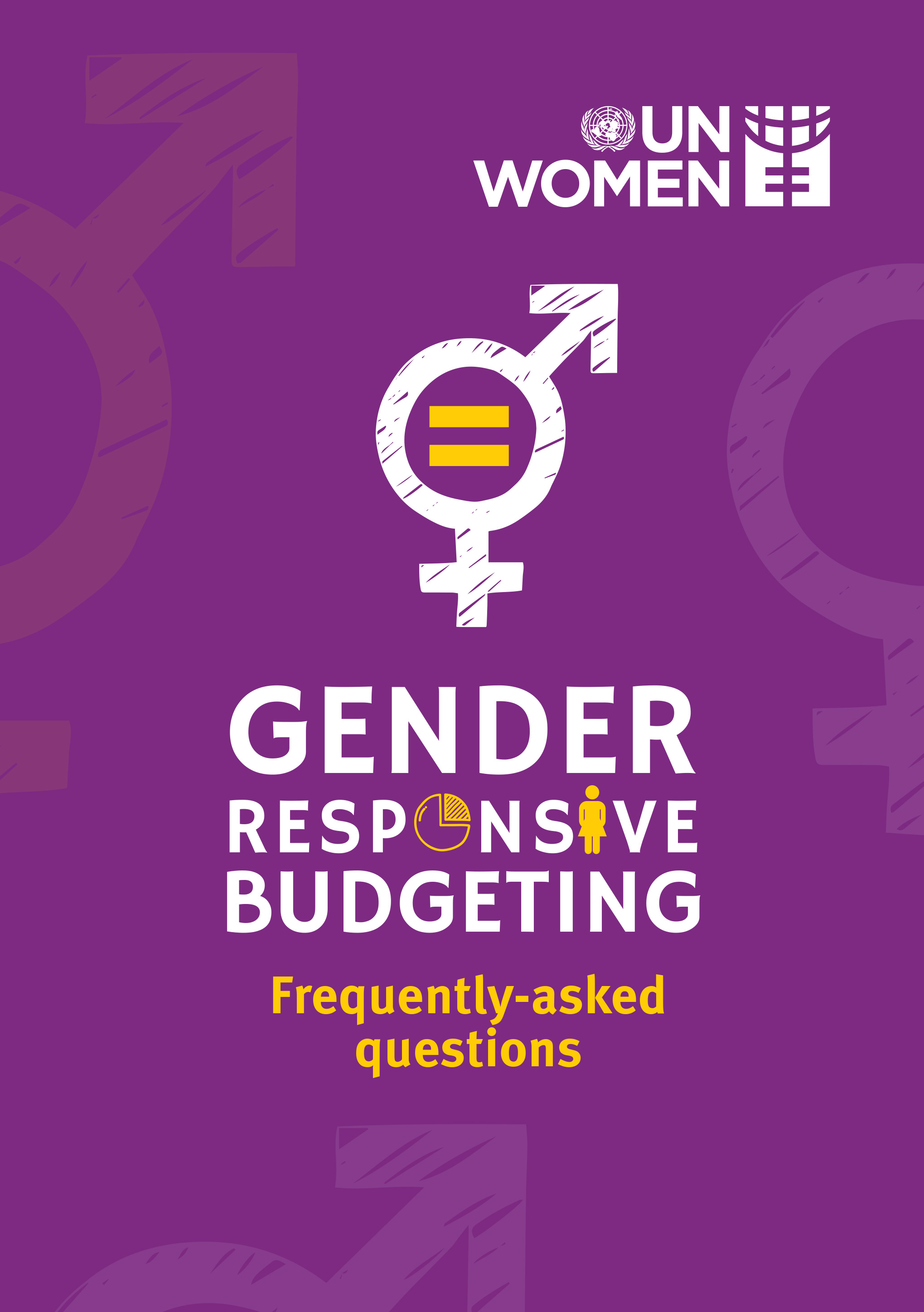 Gender Responsive Budgeting – Frequently-Asked Questions
