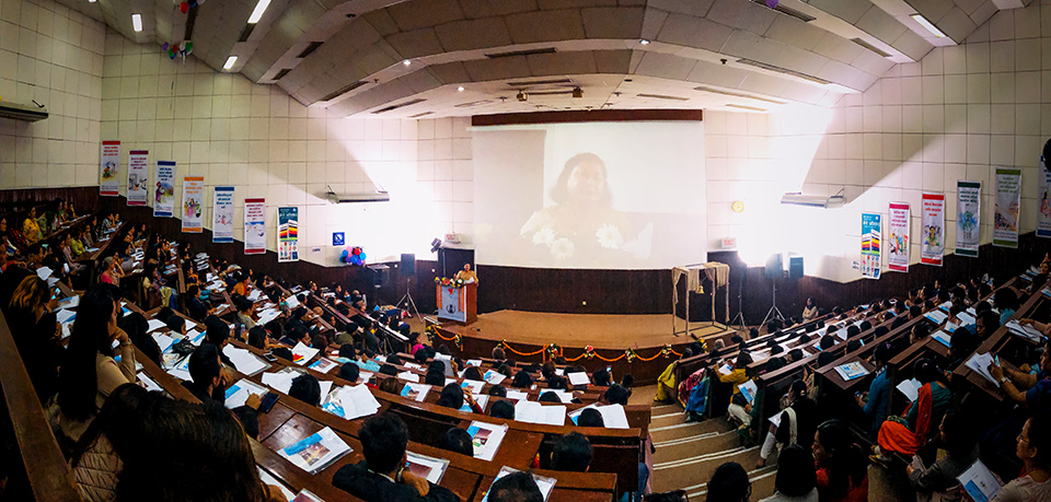 300 people participated in the Beijing+25 review national consultation in Kathmandu, organised by UN Women's partner National Network of Beijing Review Nepal (NNBN). Photo: UN Women/Anam Abbas