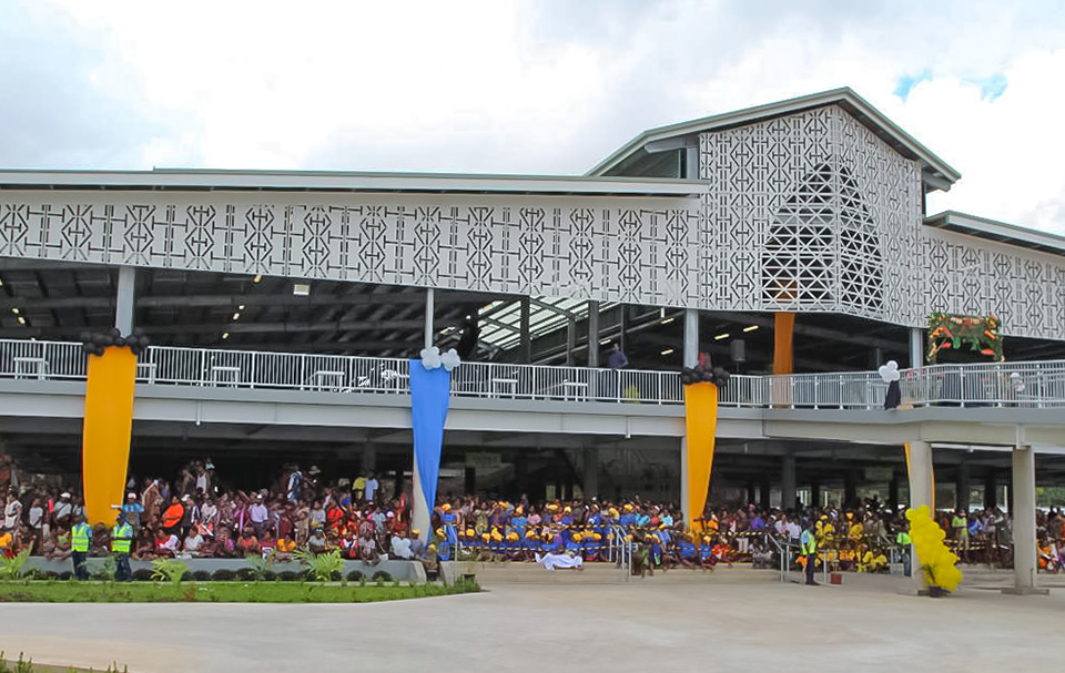 The New Gordons Market that will serve over 2000 market vendors. Photo: UN Women