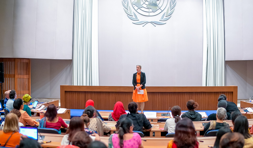 Anna-Karin Jatfors delivering opening remarks. Photo: UN Women/Sarapat Plus Co., Ltd