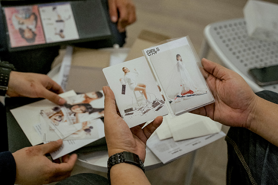 Photo cards sold at the exhibition to raise funds for sexual abuse victims. Photo: Courtesy of IKIGAI