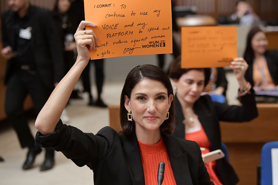 Cindy Sirinya Bishop is a Thai supermodel, actor, TV host and activist, who's challenging social attitudes around sexual violence and the treatment of victims. Photo: UN Women/Siraphob Werakijpanich