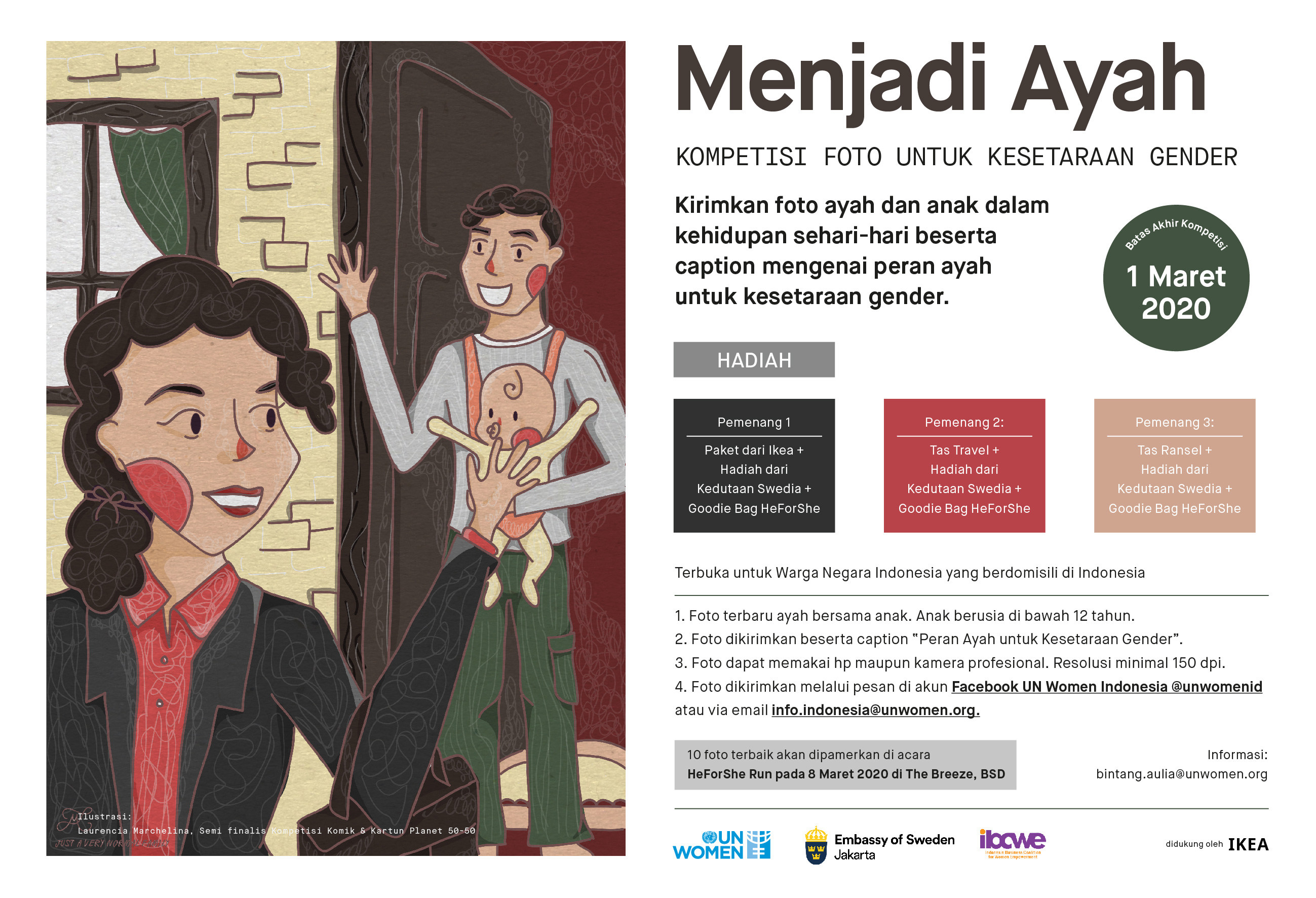 """""""Menjadi Ayah"""" Photo Contest   """"Father's Role for Gender Equality"""""""