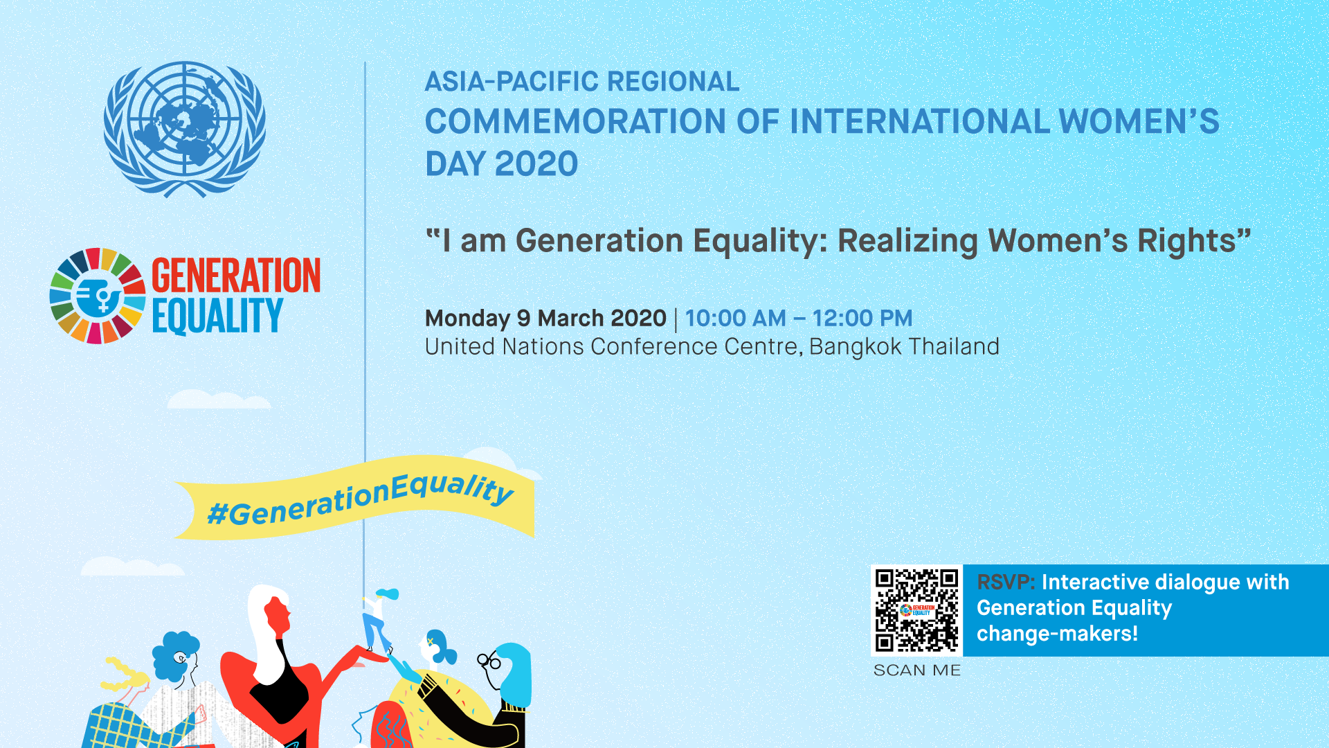 Young change-makers take the lead on realizing women's rights in Asia and the Pacific Regional Commemoration of International Women's Day 2020