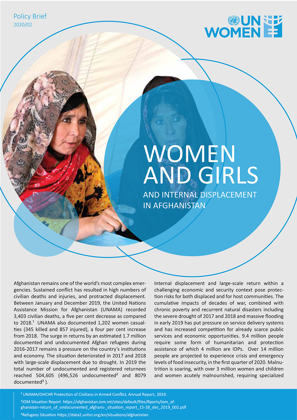 Policy Brief: Women and Girls and Internal Displacement in Afghanistan