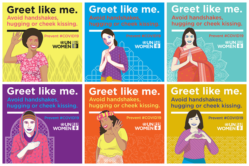"The ""Greet Like Me"" initiative was inspired by the ""Salam for Safety"" campaign created by UN Women Afghanistan"