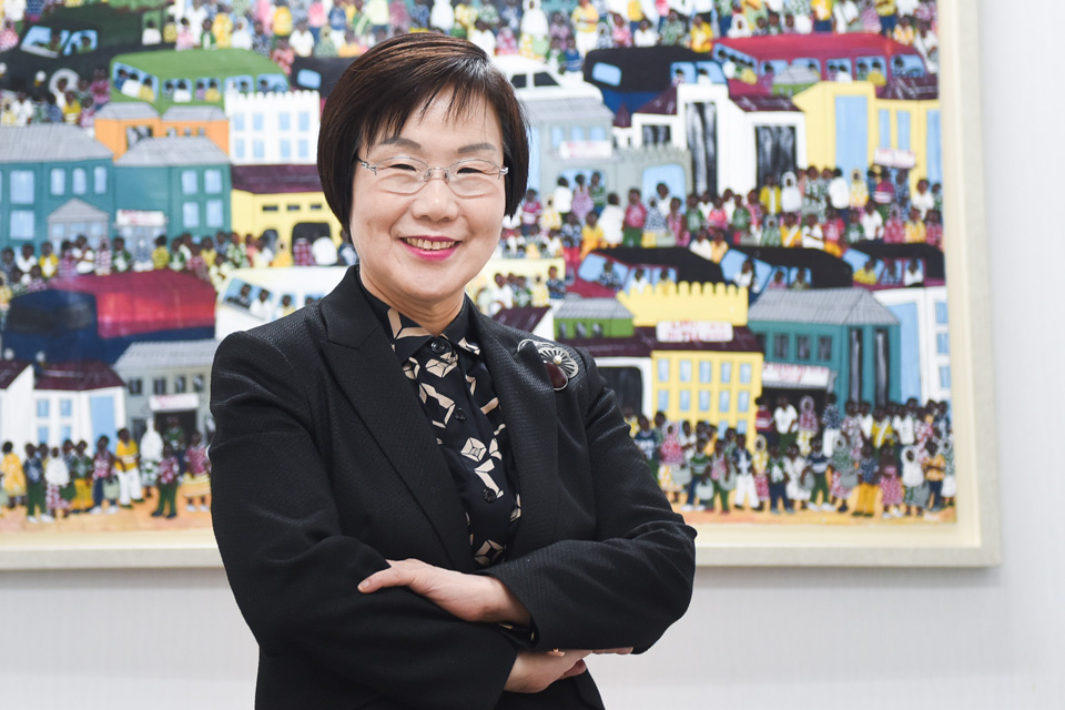 Lee Mi-kyung works to help women and others in developing countries as President of the Korea International Cooperation Agency (KOICA). Photo: KOICA